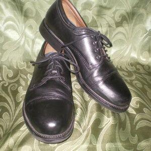 Men's Dockers Black Leather Oxford Shoes Sz 14